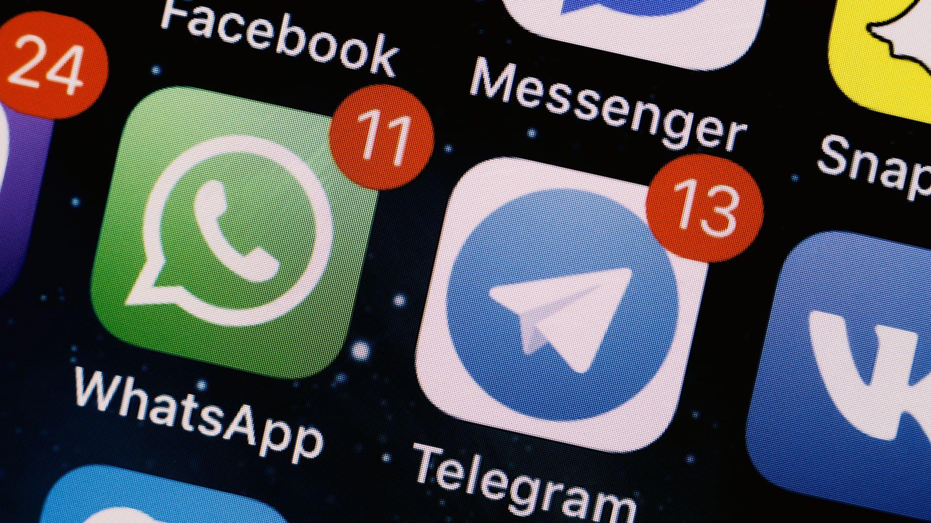 Telegram x WhatsApp: os dois são considerados concorrentes (AlexandraPopova / Shutterstock)