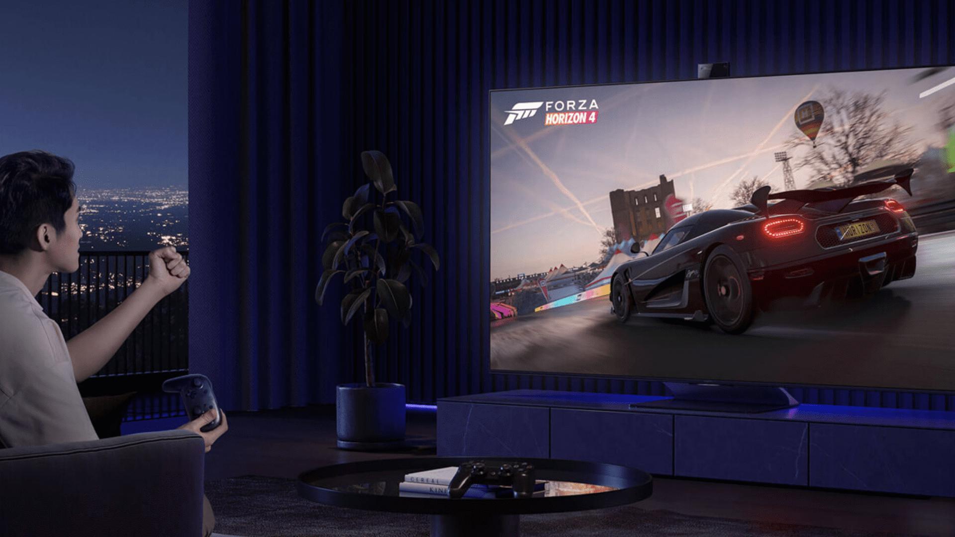 A TV da Xiaomi conta com recursos que otimizam a experiência com o videogame. (Imagem: Divulgação/Xiaomi)