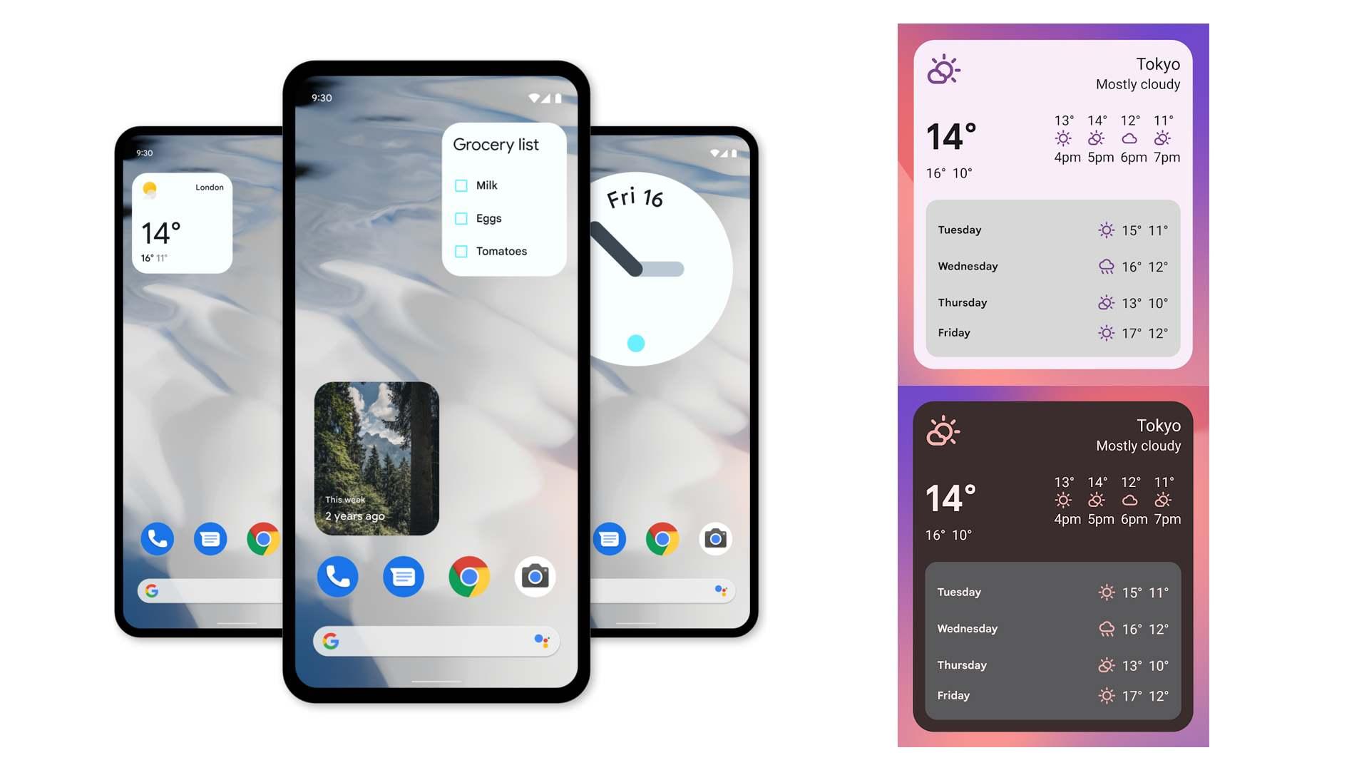 Imagem mostra exemplos de mudança no design no smartphone