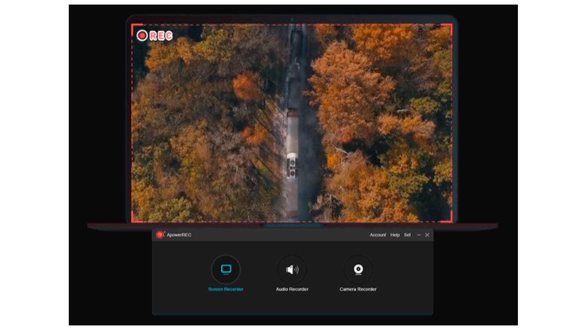 Captura do gravador de tela Apowersoft Screen Recorder