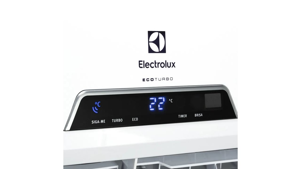 Visor do ar-condicionado split Electrolux Ecoturbo.