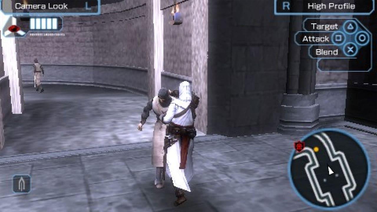 Personagem de Assassin's Creed: Bloodlines golpeia outro