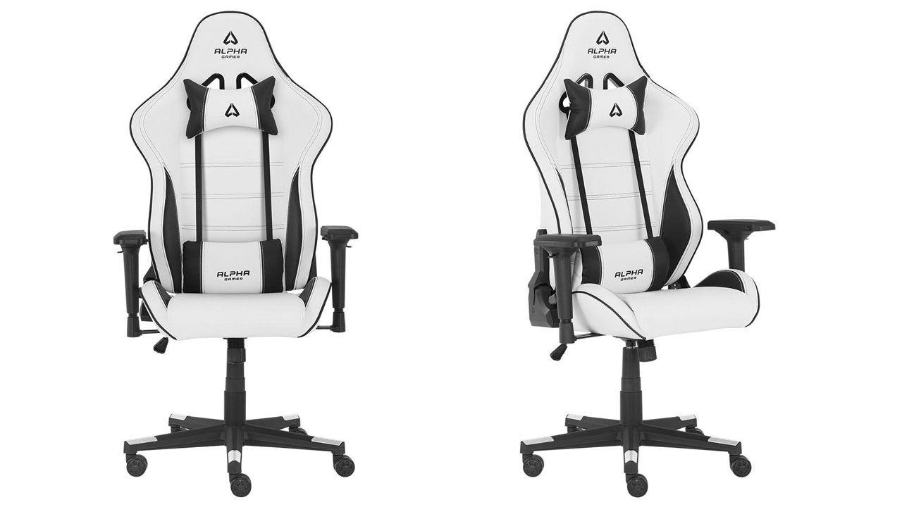 Cadeira Gamer branca Nimbus White vista de frente e de lado
