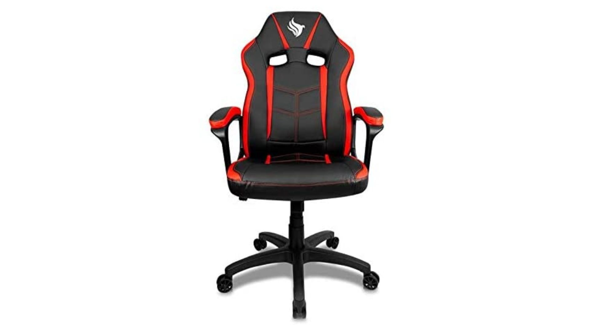 Cadeira Gamer Pichau Mondain preta e vermelha em fundo branco