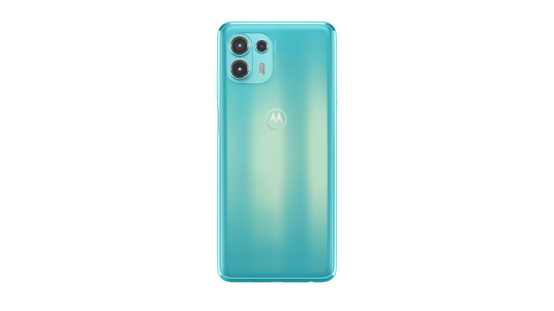 Imagem mostra parte traseira do Motorola Edge Lite