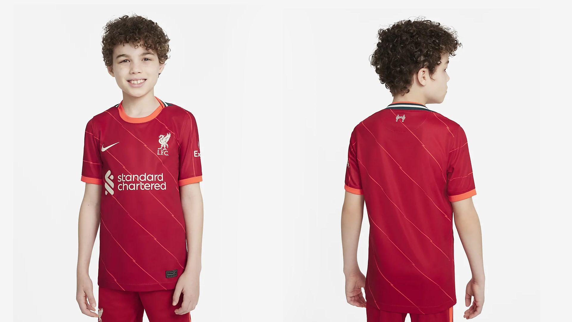 Camisa do Liverpool Infantil (Imagem: Divulgação/Nike)
