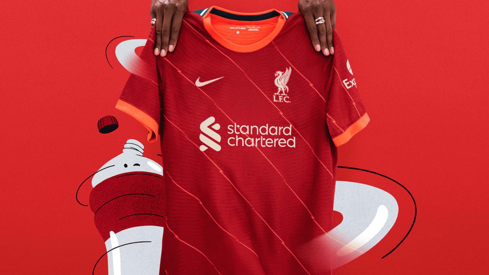 Conheça os modelos de camisa do Liverpool para comprar em 2021! (Imagem: Divulgação/Nike)