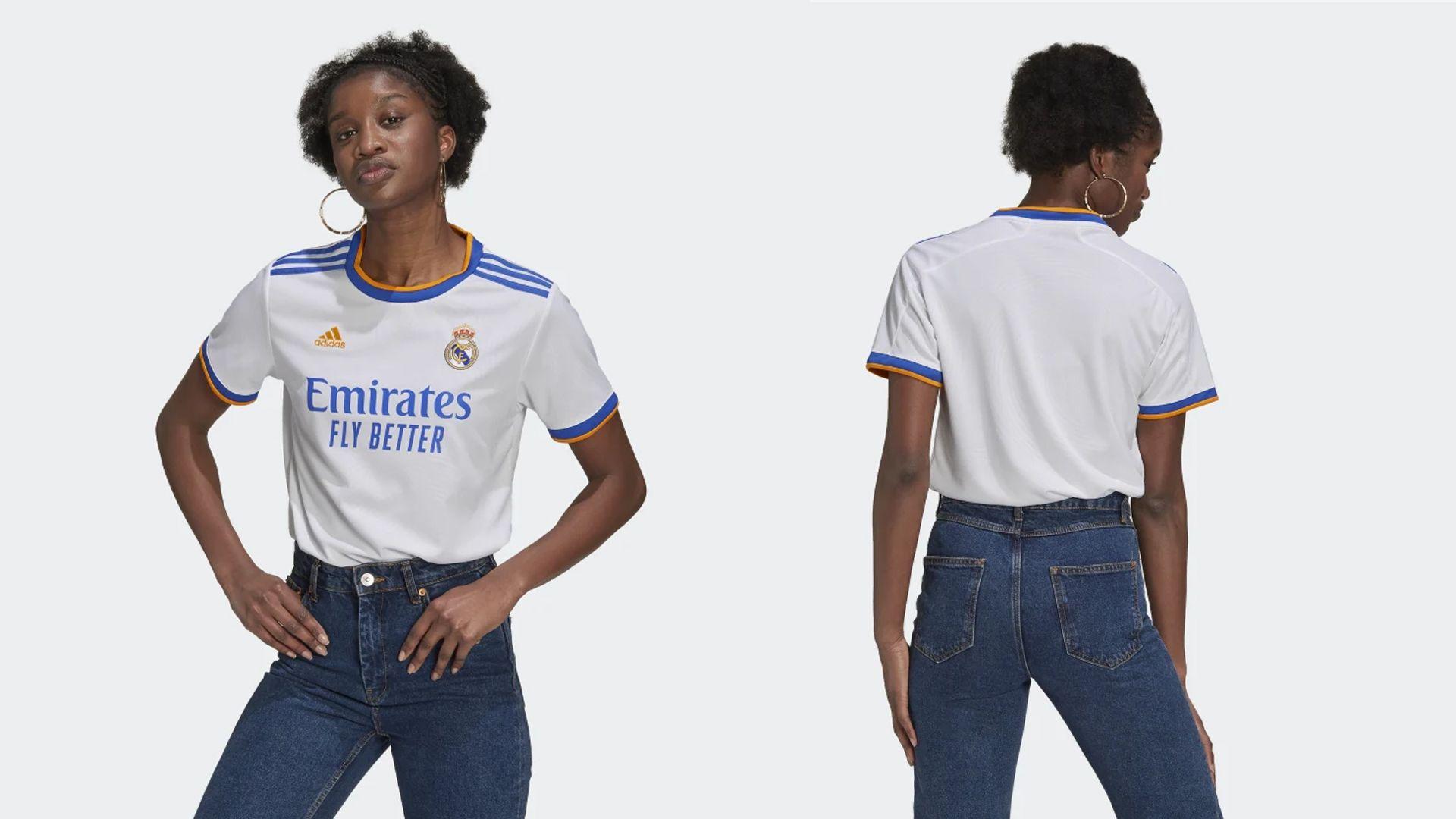 Camisa do Real Madrid Feminina (Imagem: Divulgação/Adidas)