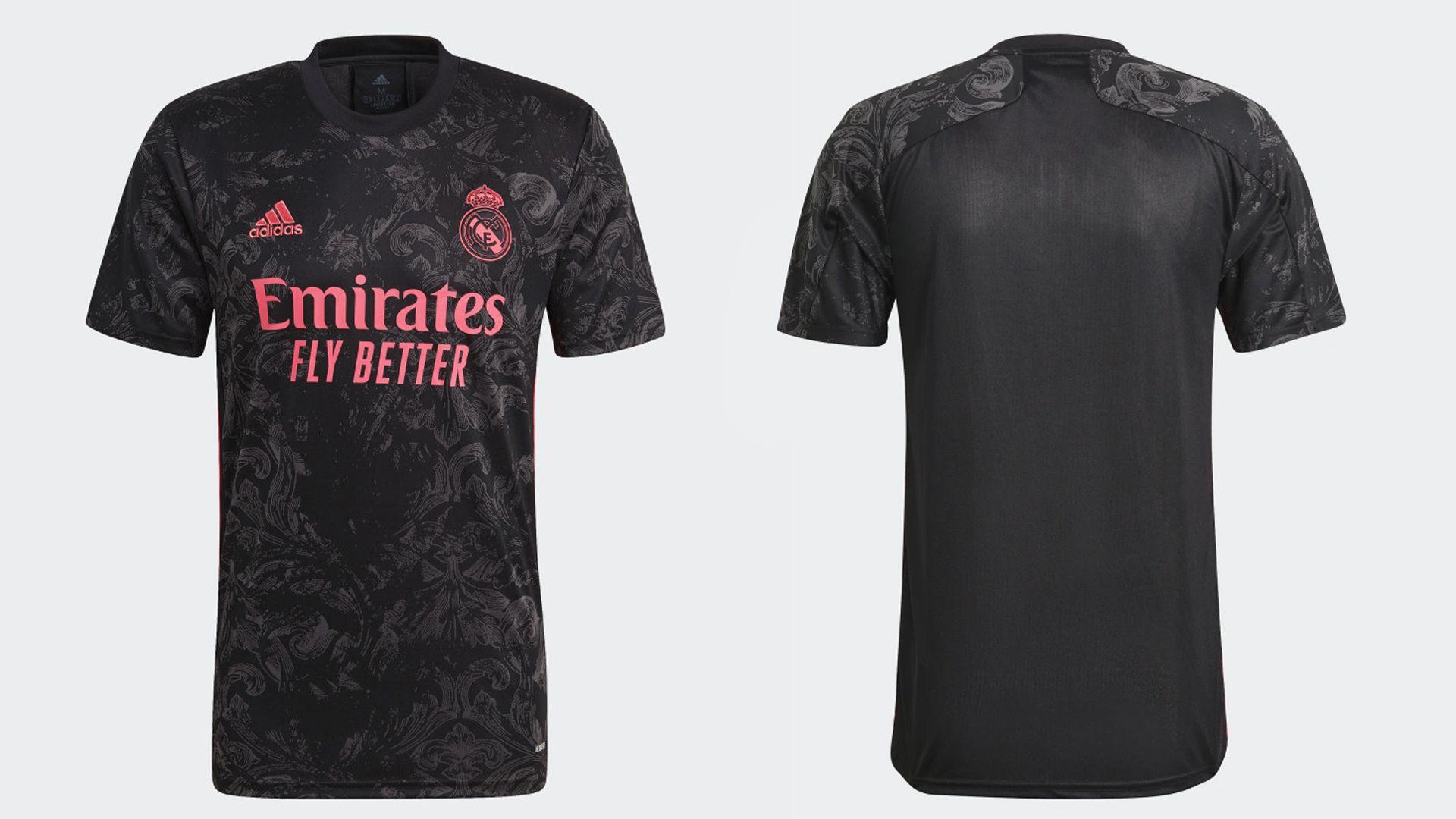 Camisa do Real Madrid Preta (Imagem: Divulgação/Adidas)