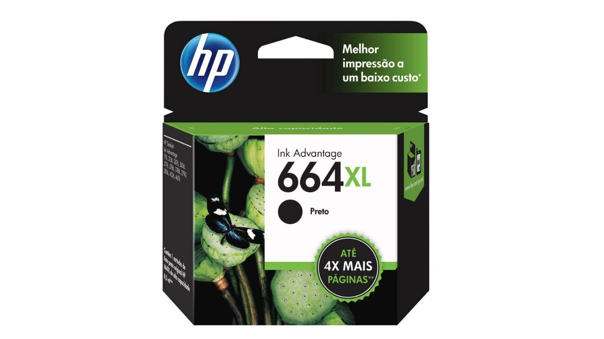 Cartucho de Tinta para impressora HP Preto 664 XL