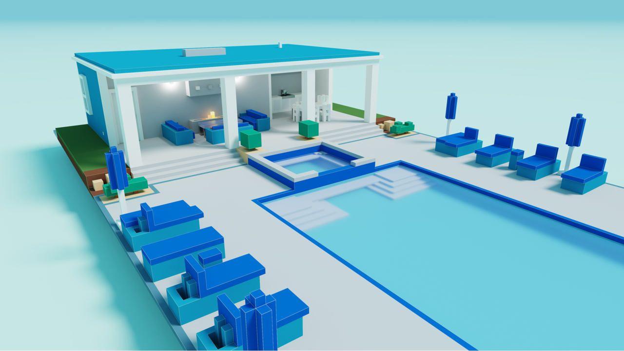 Uma casa Minecraft moderna e com toques luxuosos