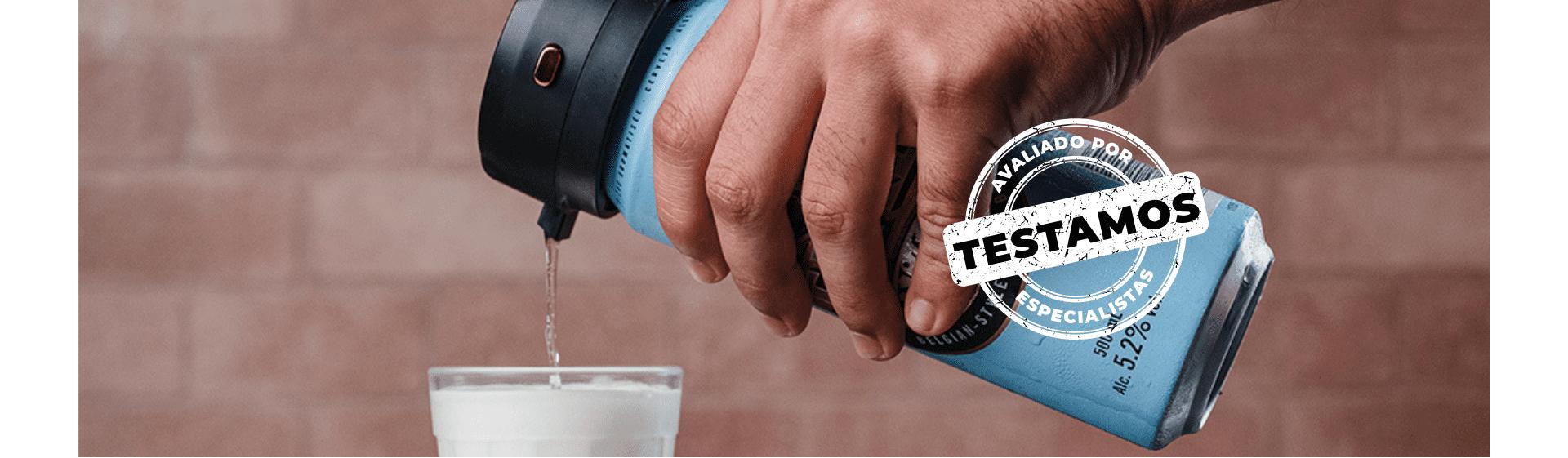 Chopeira portátil Xiaomi para latas: aparelho transforma qualquer cerveja em chope