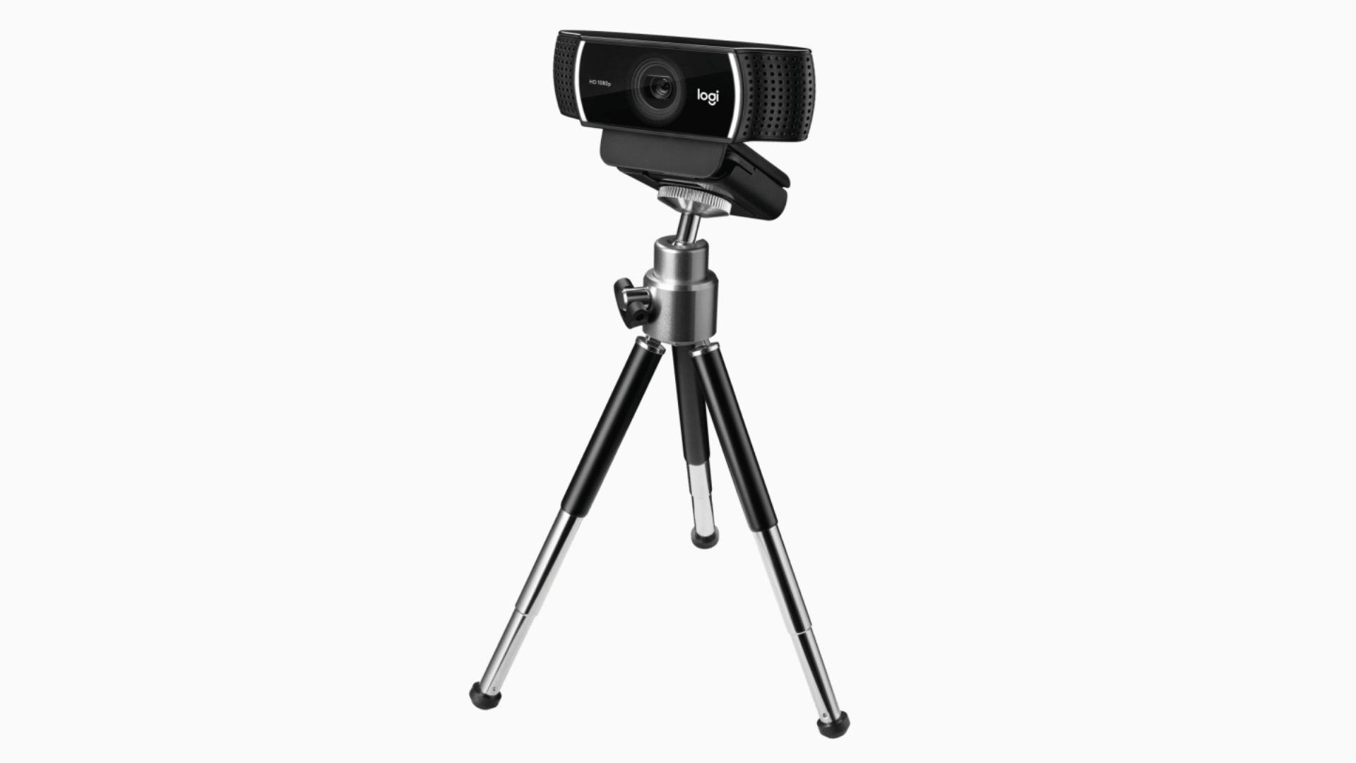 Webcam Logitech C922 em tripé