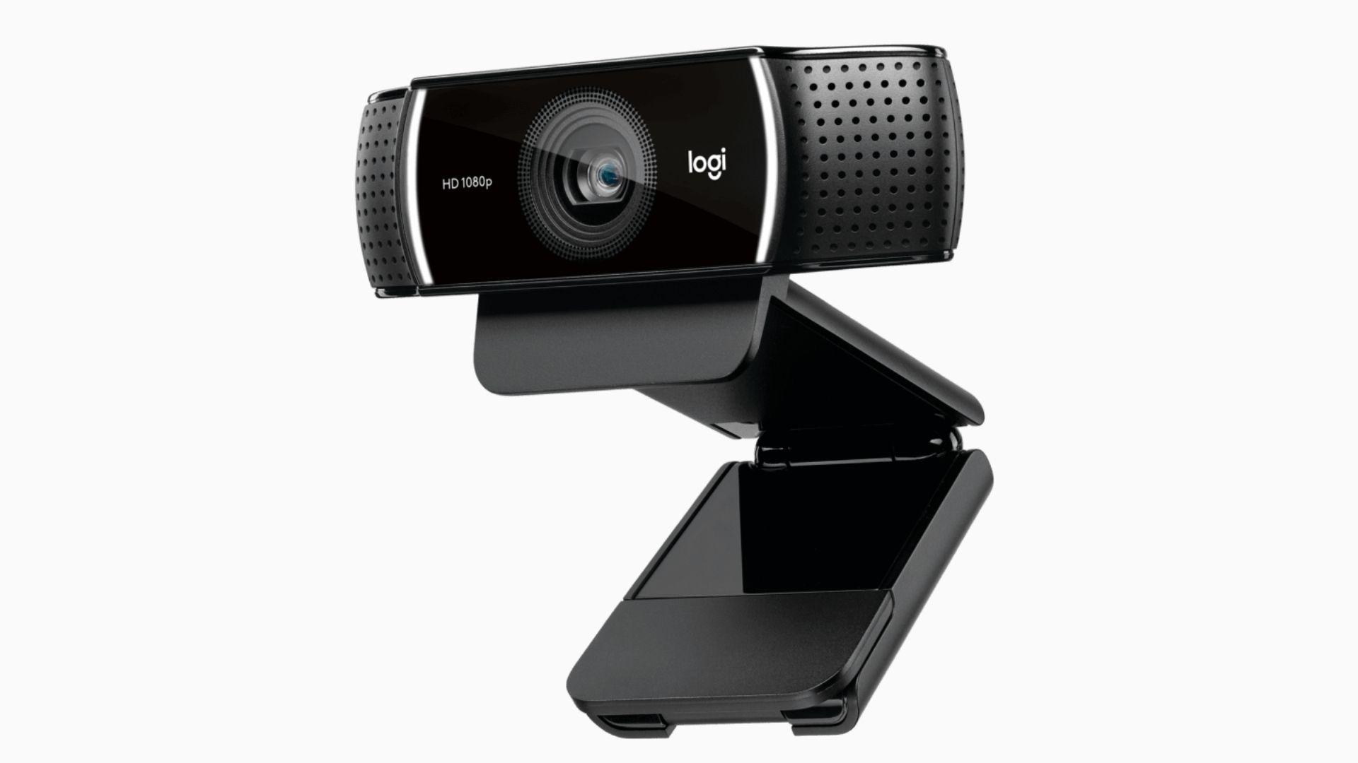 Webcam Logitech C922 no fundo branco