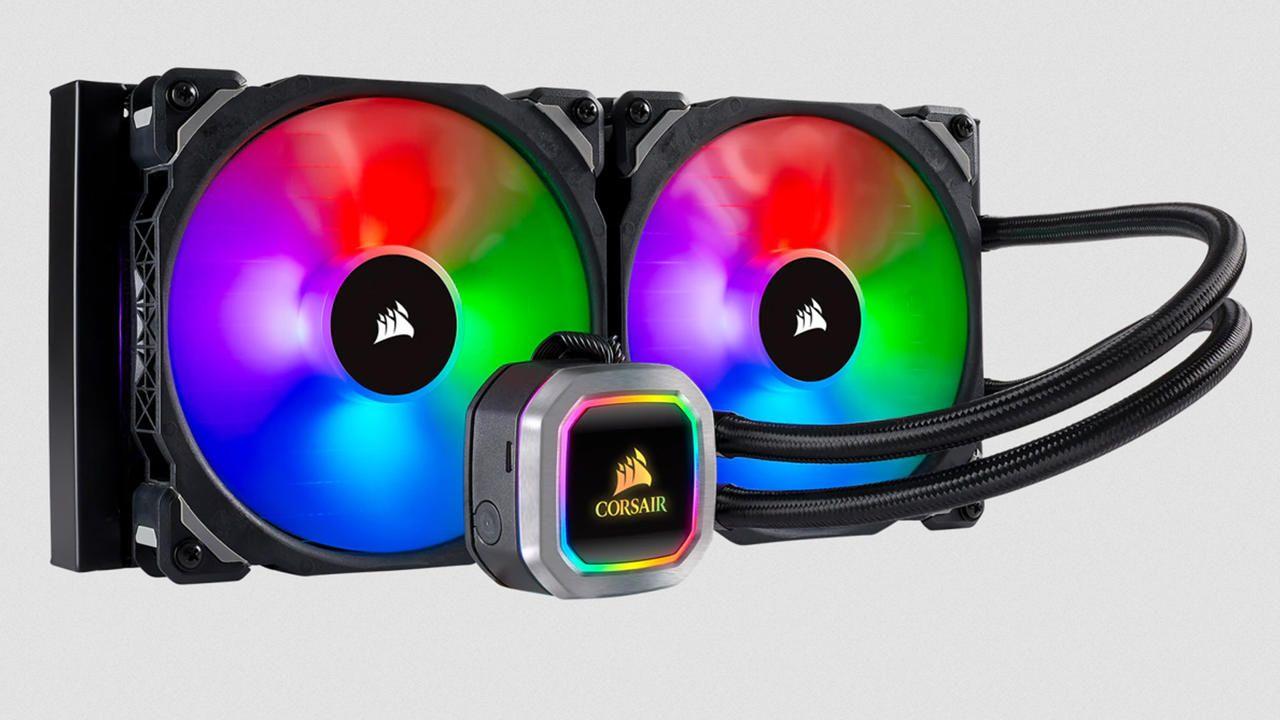 Corsair water cooling Hydro H115i RGB Platinum com cores RGB