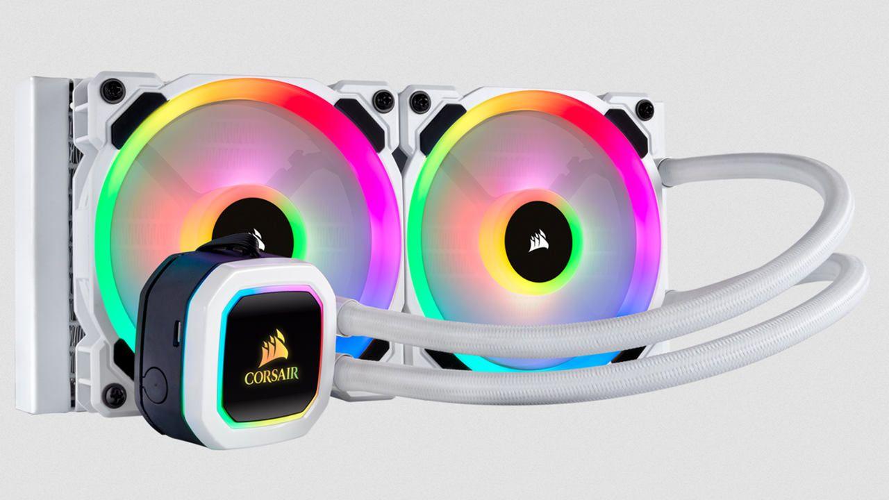 Water cooler Corsair branco com iluminação RGB