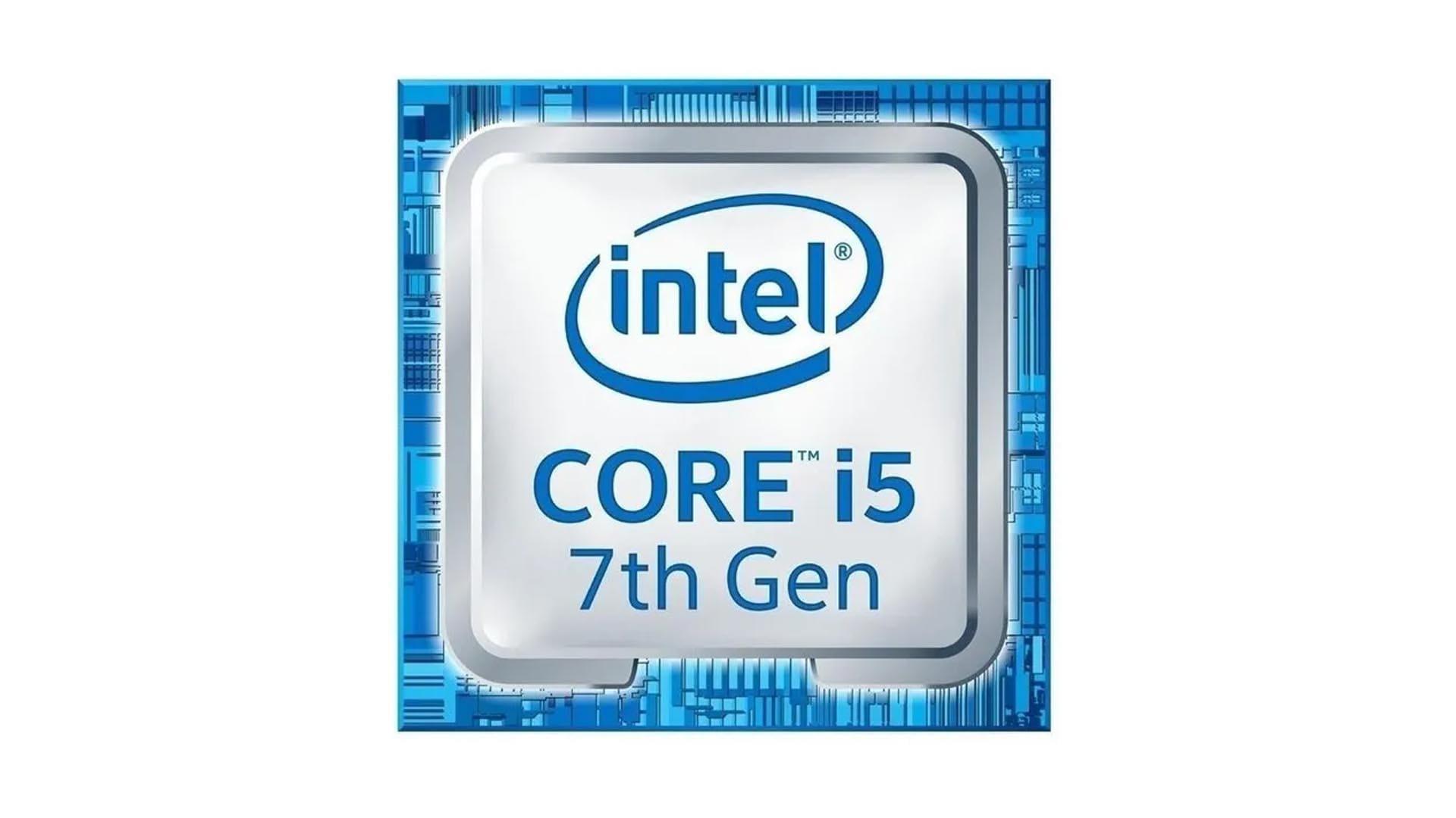 Adesivo azul do processador Intel Core i5 de sétima geração