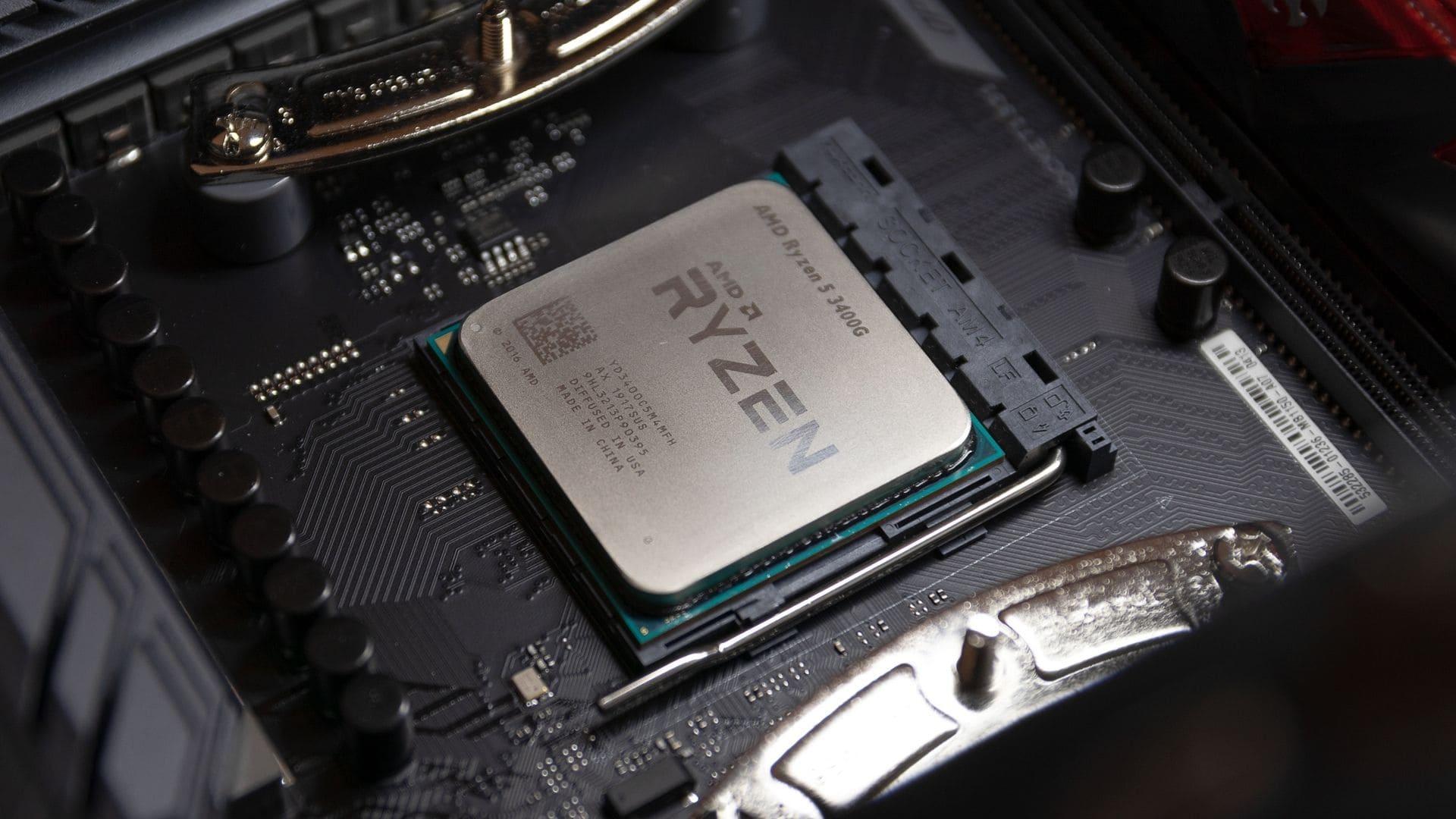 Processador AMD Ryzen 5 3400G no computador
