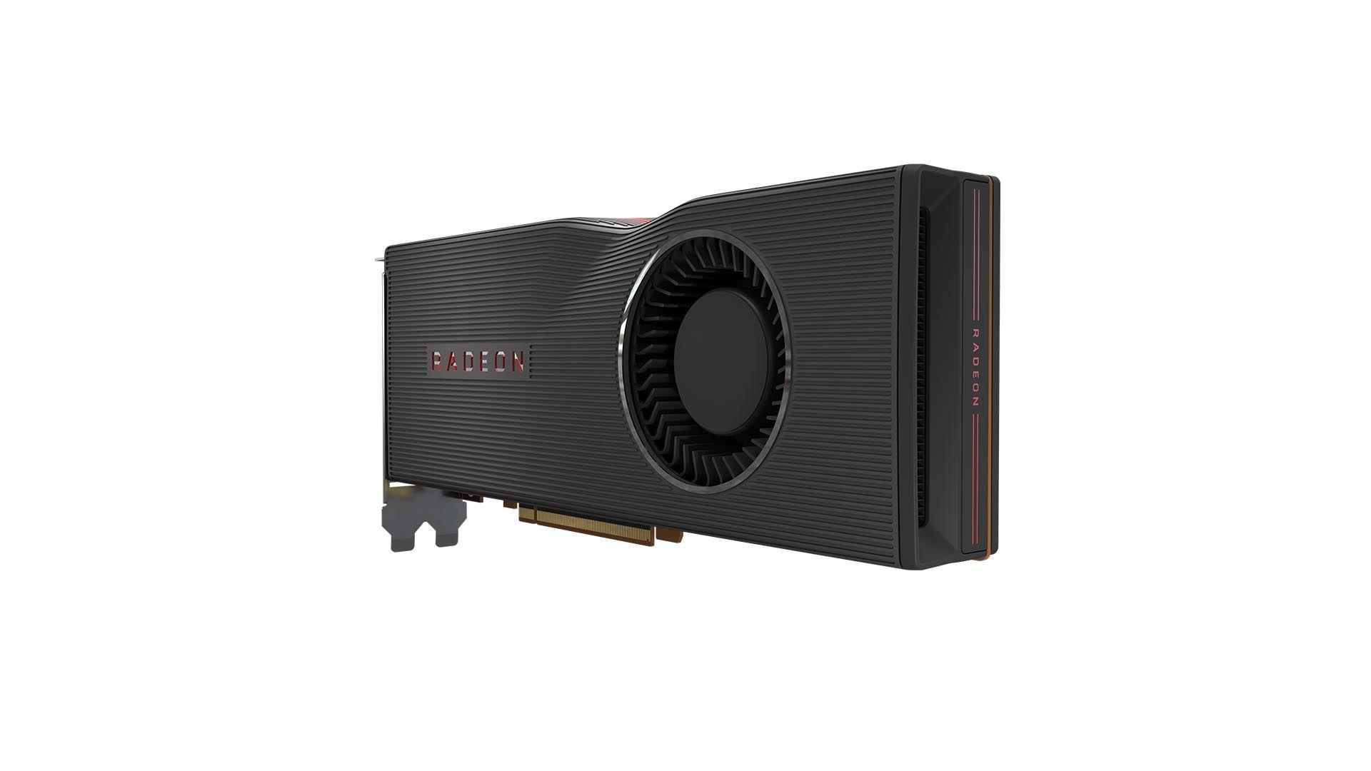 GPU RX 5700 XT no fundo branco