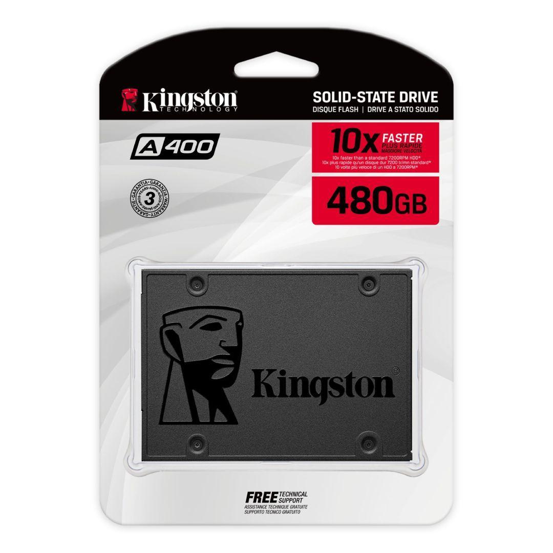Embalagem de SSD Kingston A400 480GB