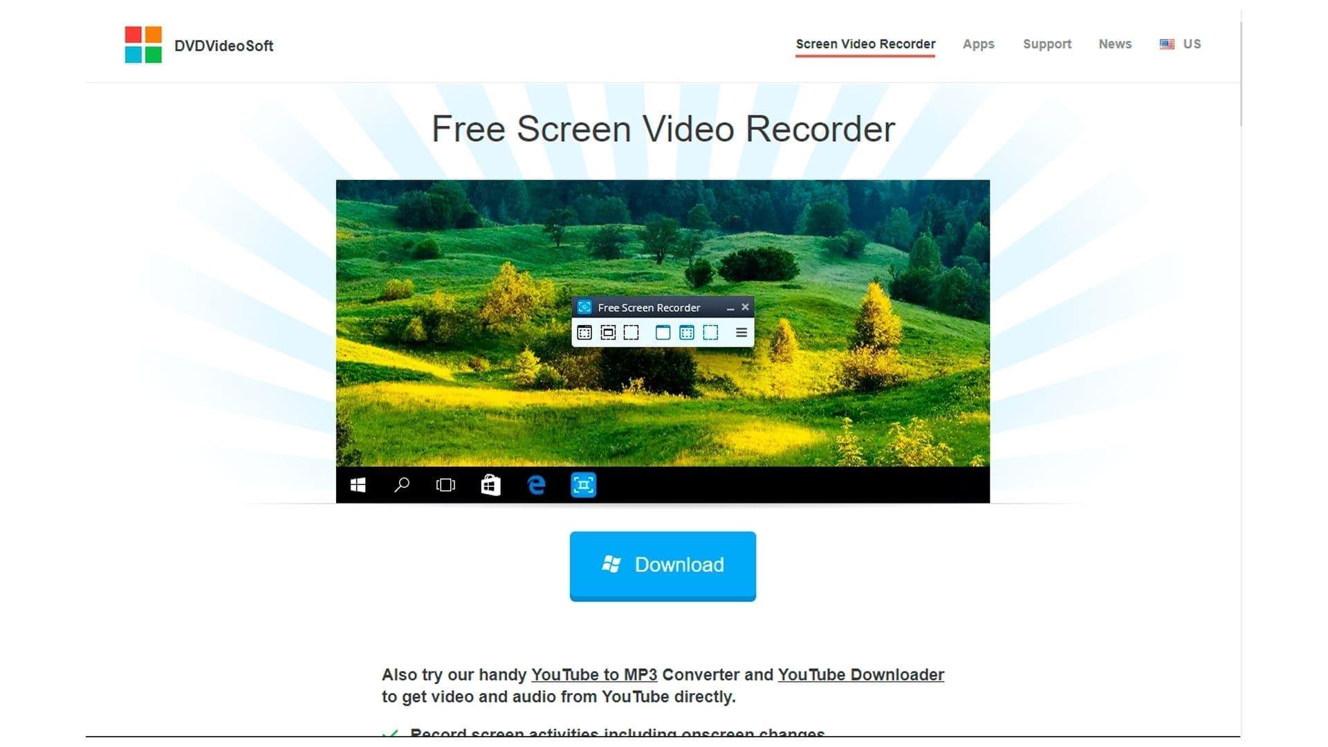 Captura do gravador de tela Free Screen Recorder