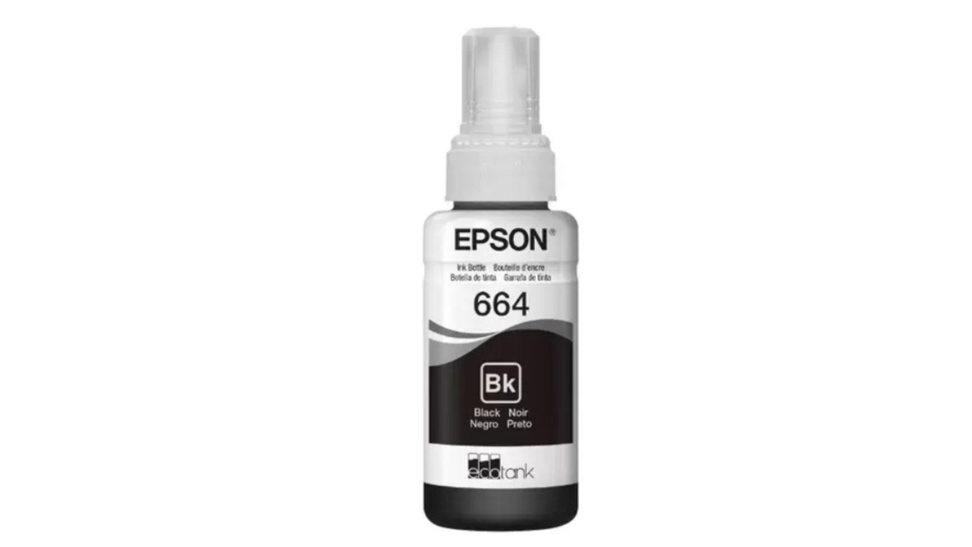 Garrafa de tinta preta Epson 664