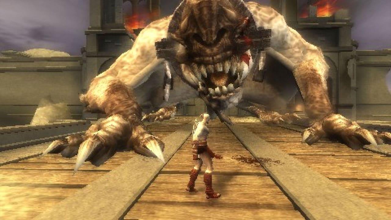 Kratos, de God of War: Chains of Olympus enfrenta monstro gigante