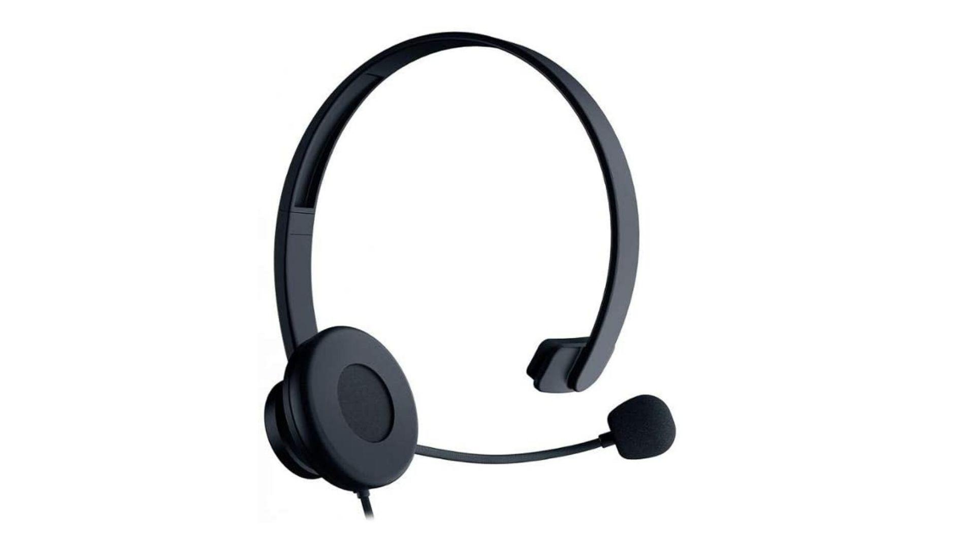 Headset Razer Tetra P2 preto no fundo branco