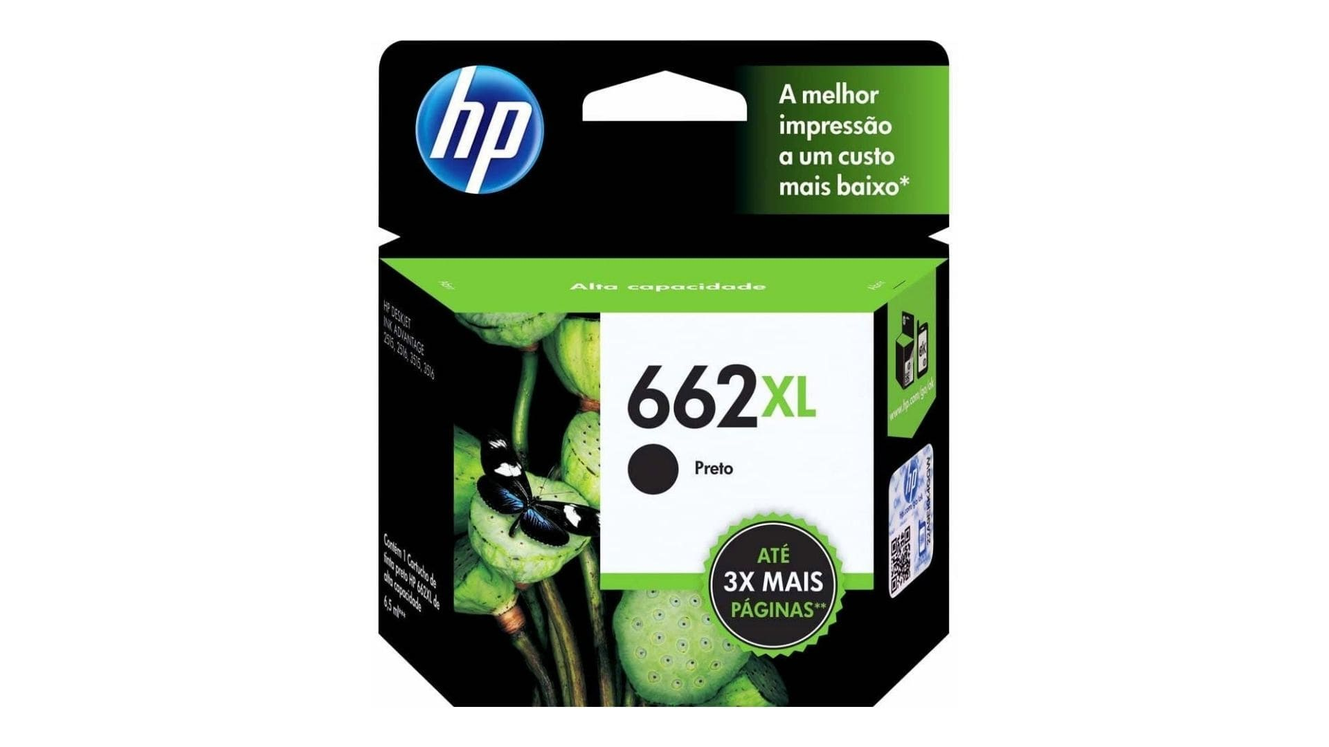 Tinta para impressora HP 662XL
