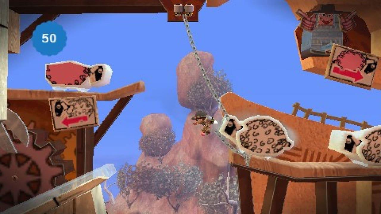 Cenário de LittleBigPlanet com obstáculos