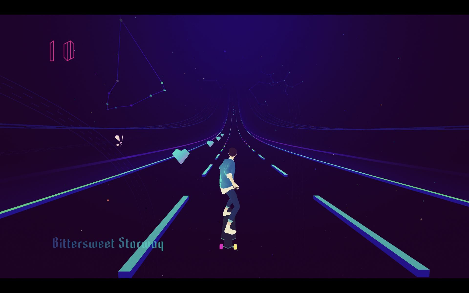 Captura de tela do jogo Sayonara: Wild Hearts