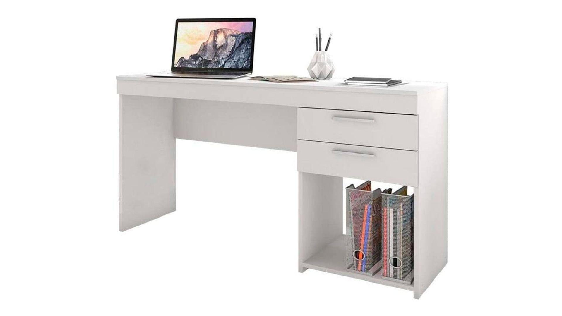 Mesa para Computador Office 2 GV Branca em fundo branco