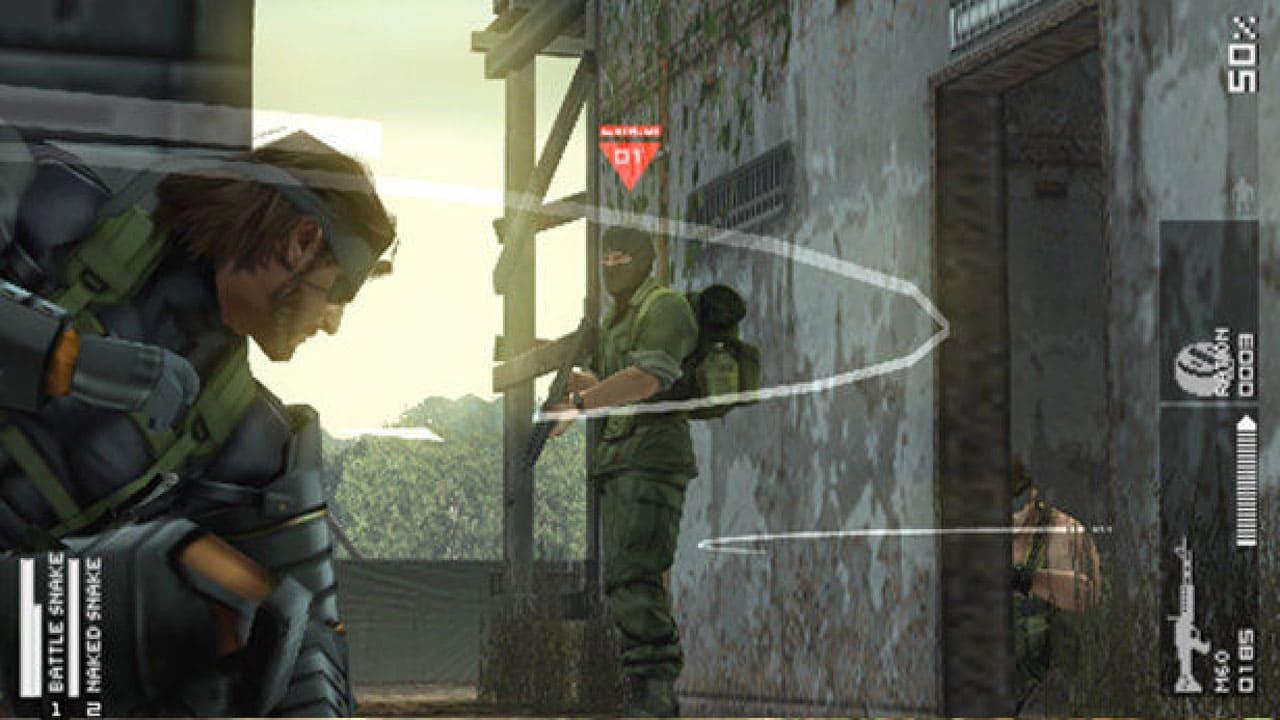 Personagens de Metal Gear Solid: Peace Walker se escondendo