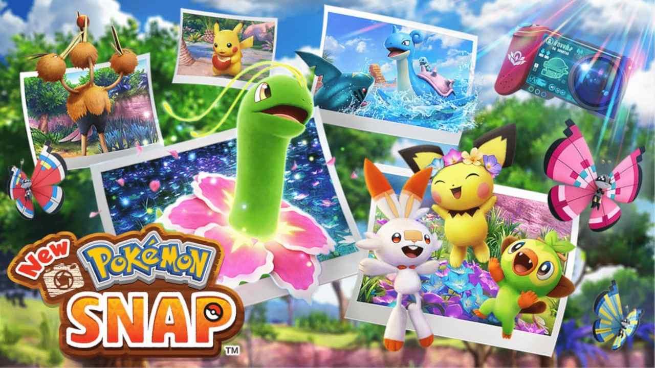 Monstrinhos saindo de fotos em New Pokémon Snap