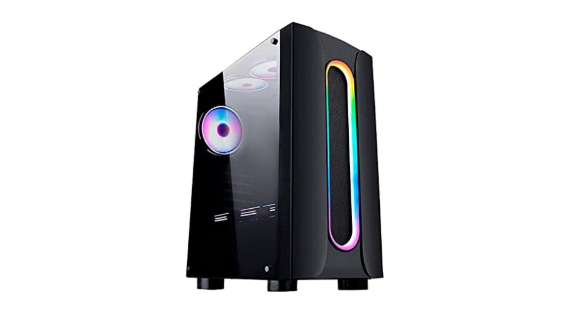 PC Gamer G-Fire Htgw-133 Intel Core i5 10ª Geração preto com RGB em fundo branco