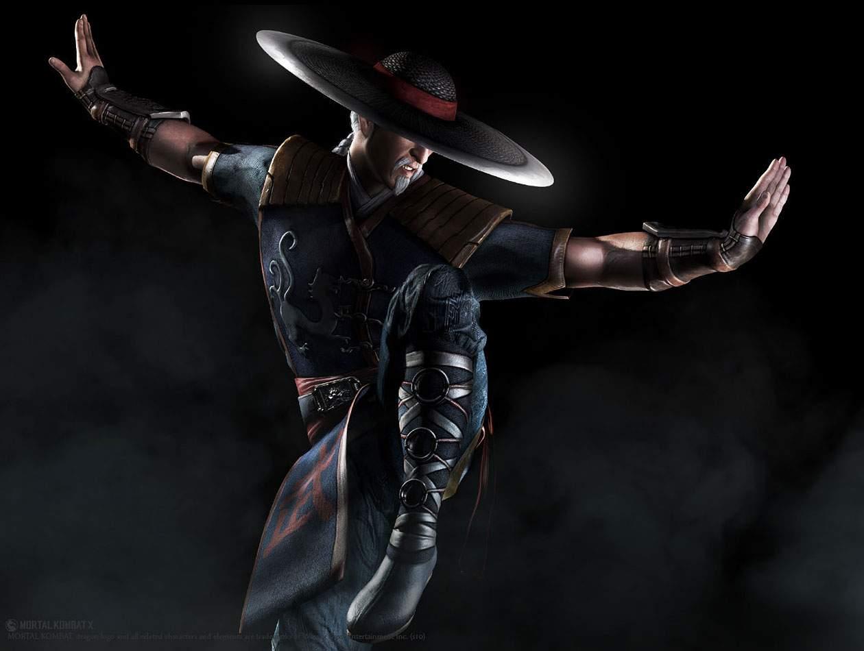 Ilustração do personagem Kung Lao, mostrando uma versão mais velha do personagem em pose de kung fu