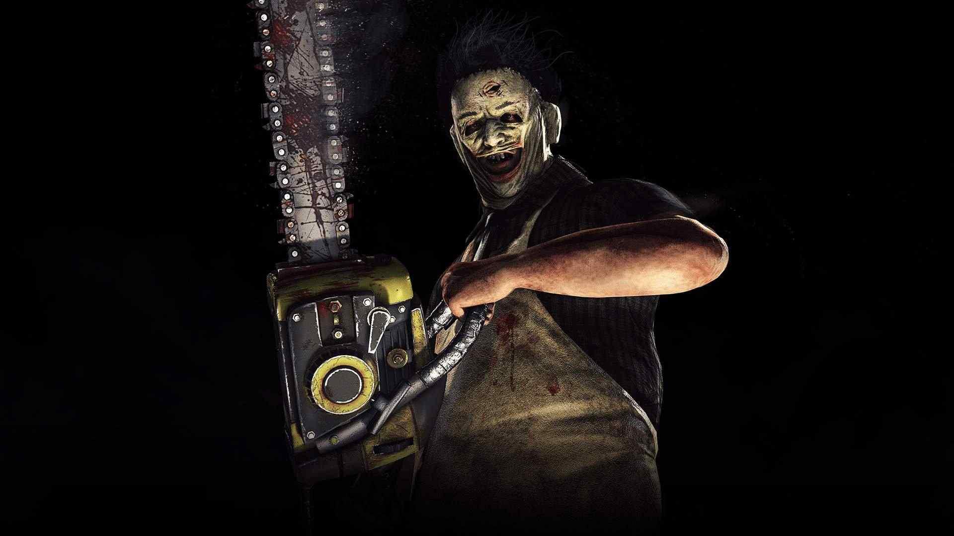 Ilustração de Mortal Kombat X mostrando o personagem de filmes de terror Leatherface, de Massacre da Serra Elétrica