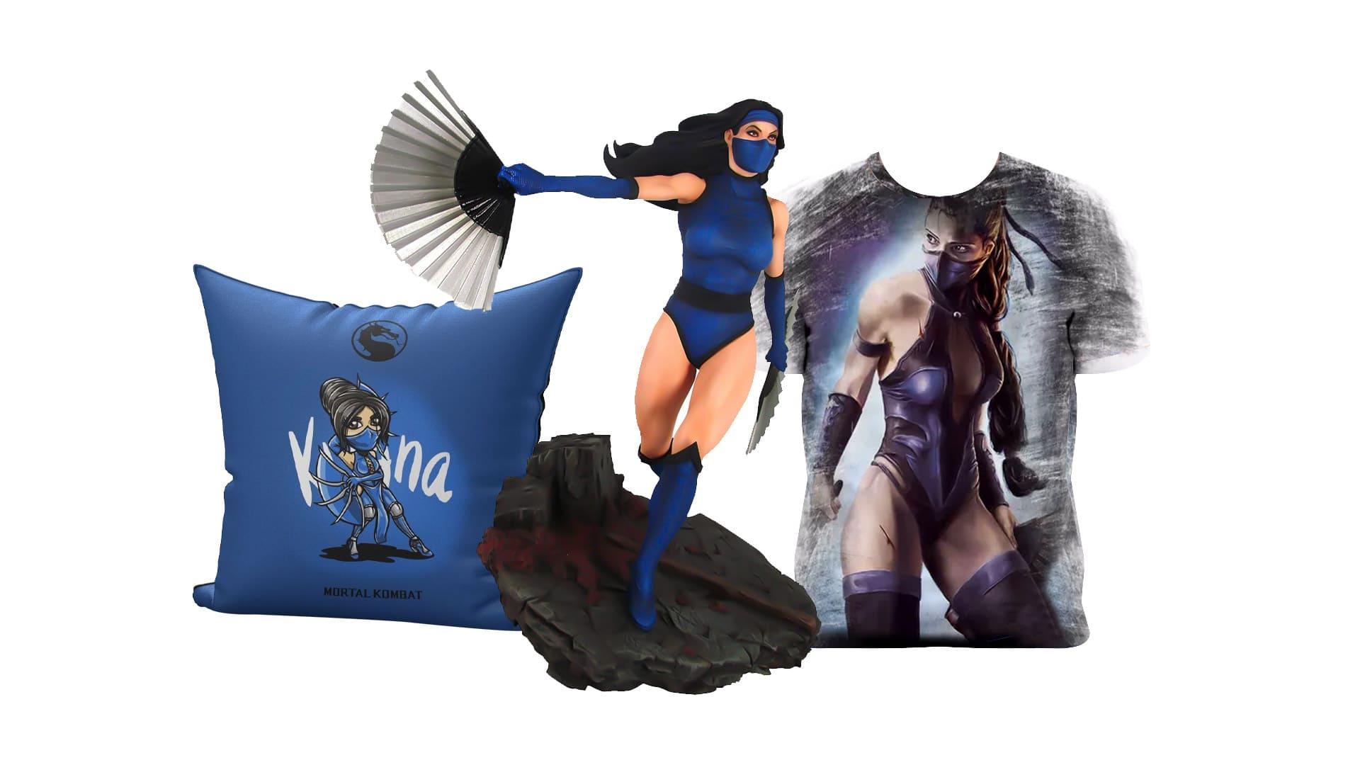Produtos e colecionáveis estrelados pela personagem Kitana de Mortal Kombat