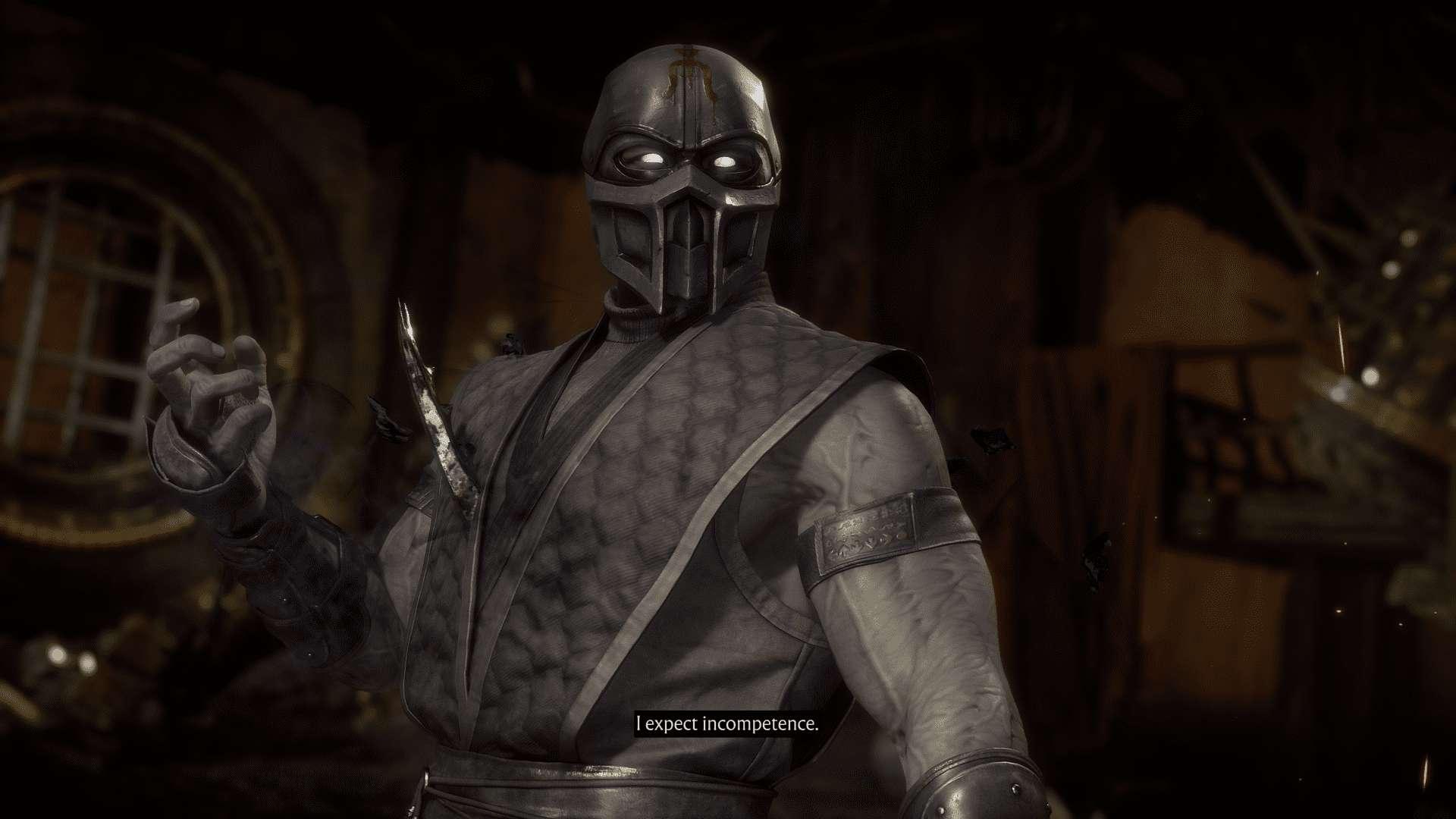 Captura de tela de Mortal Kombat 11 destacando Noob Saibot