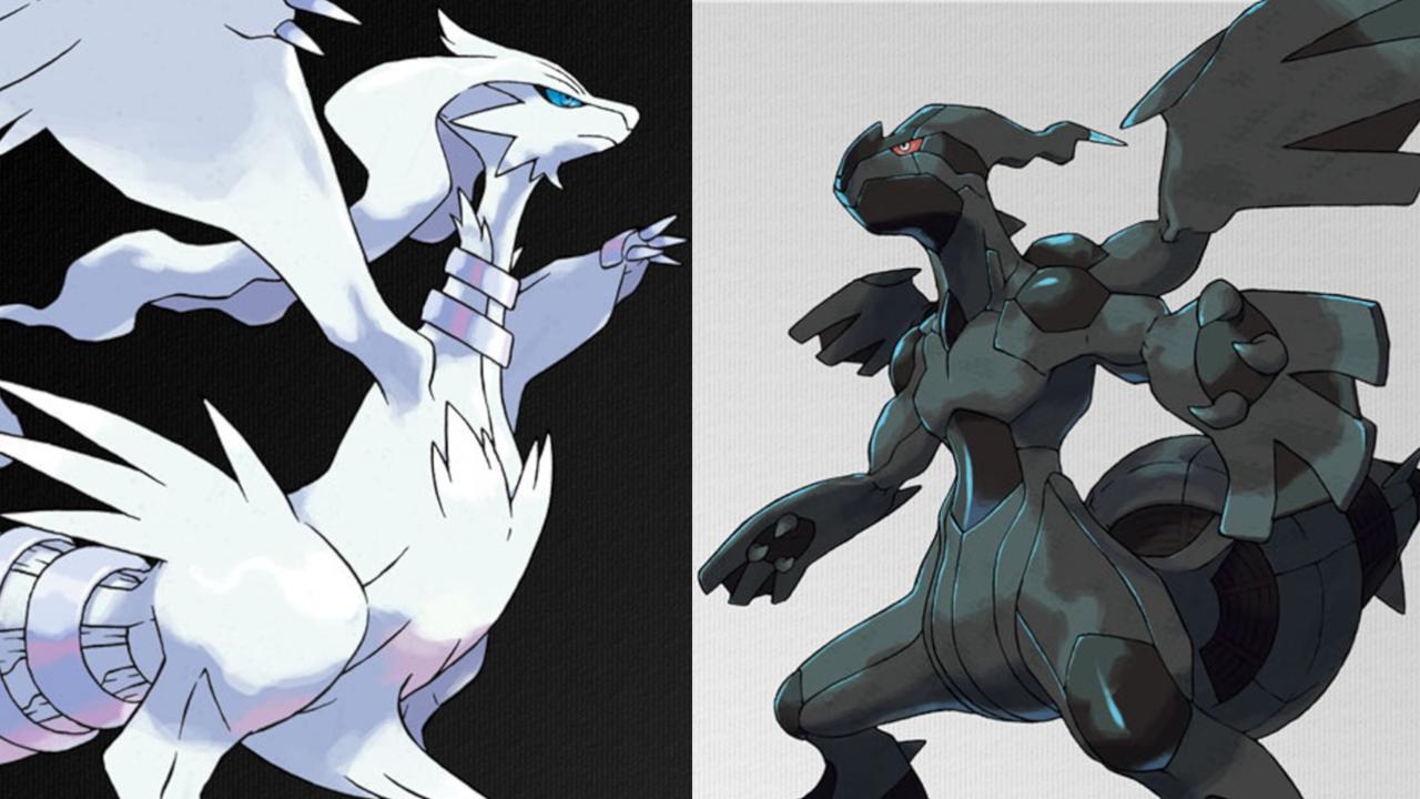 Reshiram e Zekrom em Pokémon Black e White