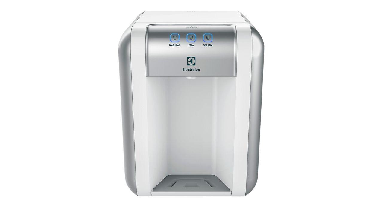 Purificador de água Electrolux PE11B de frente em fundo branco.