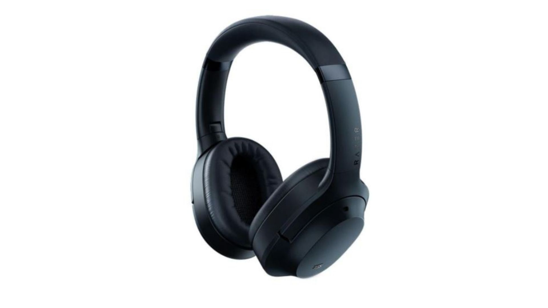 Headset Razer Opus Wireless preto no fundo branco