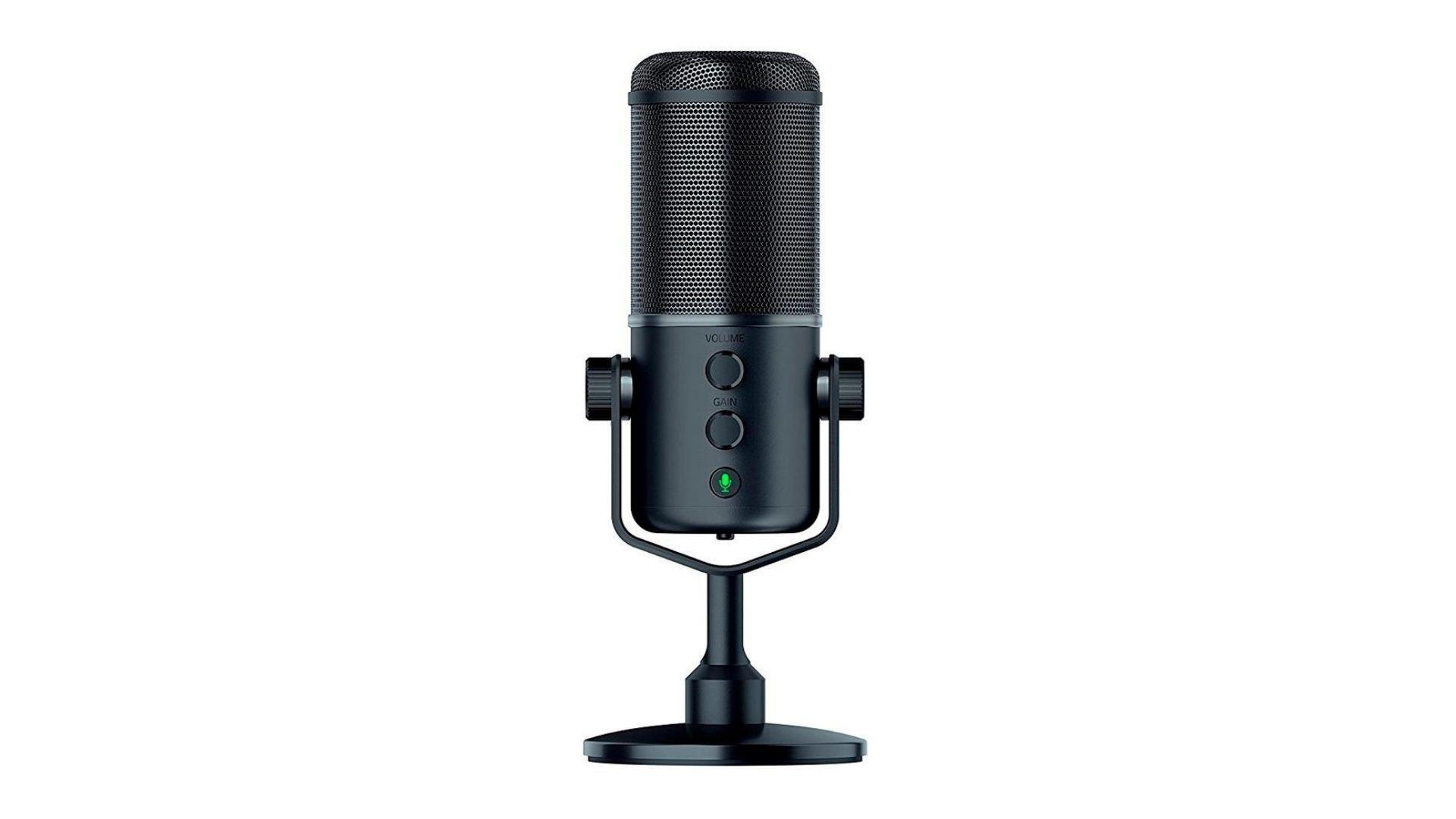 Microfone Razer Seiren Elite preto