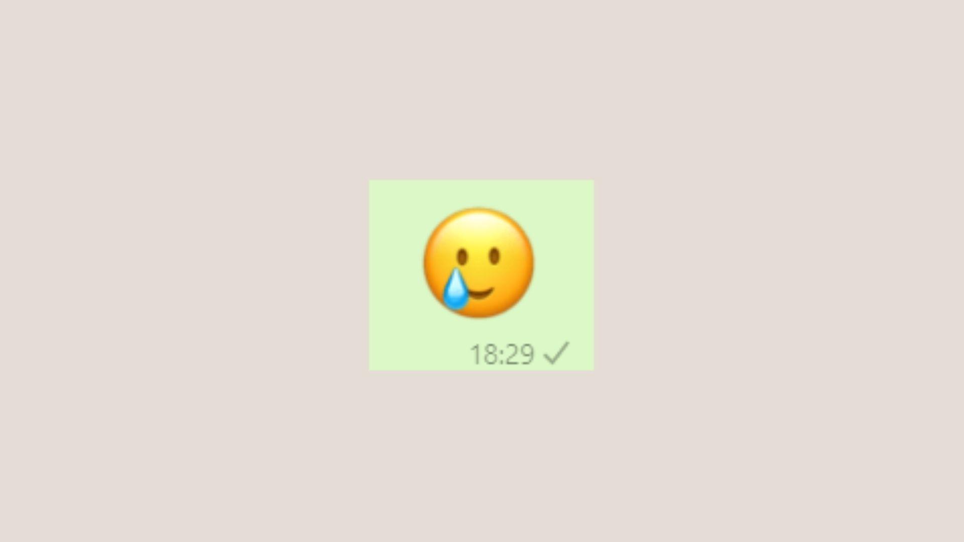 Emoji de WhatsApp chorando