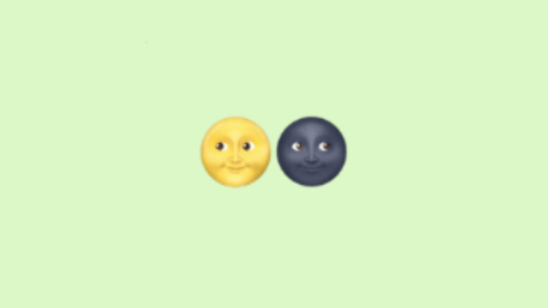 Emojis de luas enigmáticas no WhatsApp