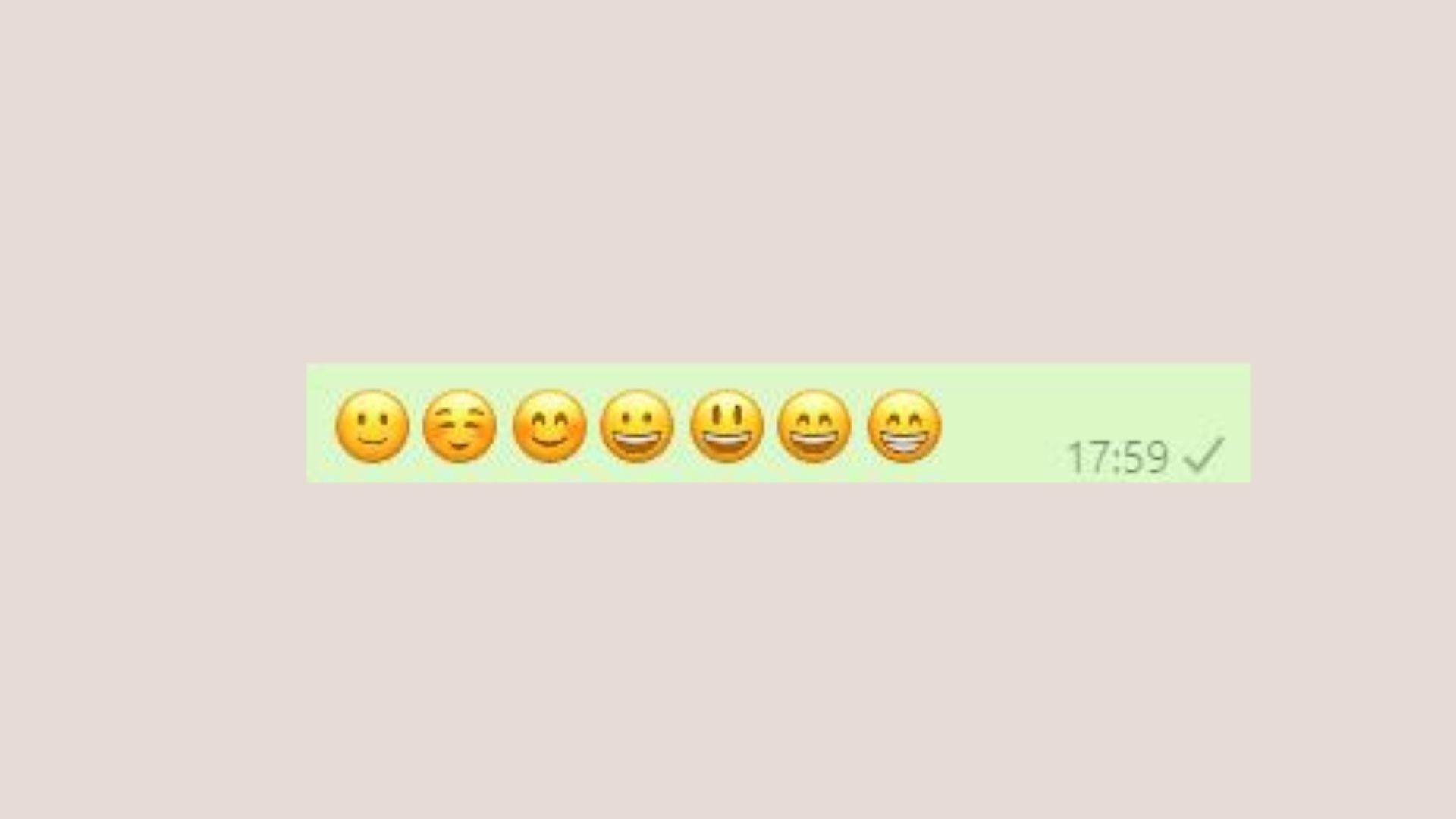 Emojis de WhatsApp sorridentes
