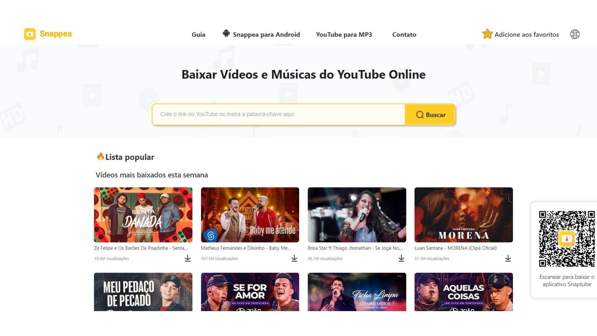 O Snappea é uma opção prática para quem quer baixar música do YouTube sem instalar aplicativos ou programas (Foto: Divulgação)