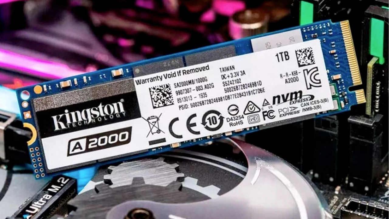 SSD 1TB Kingston A2000 em um computador