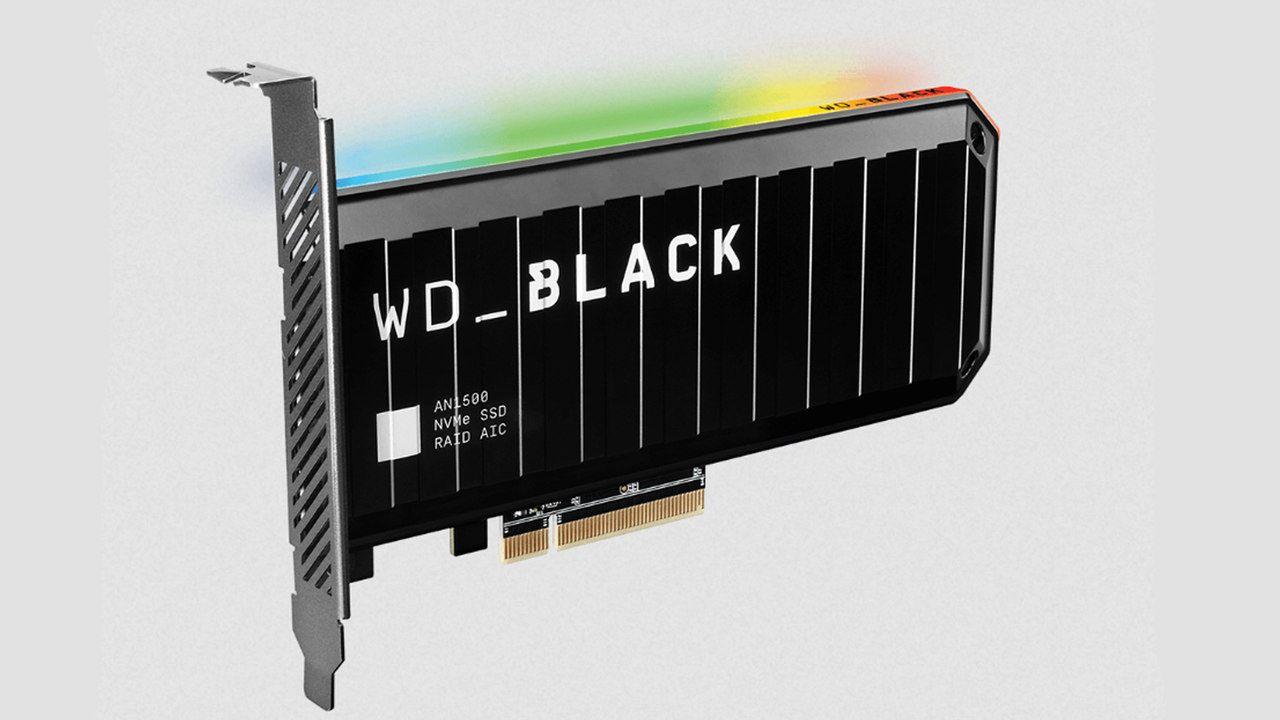 SSD 1TB WD Black AN1500 preto com RGB