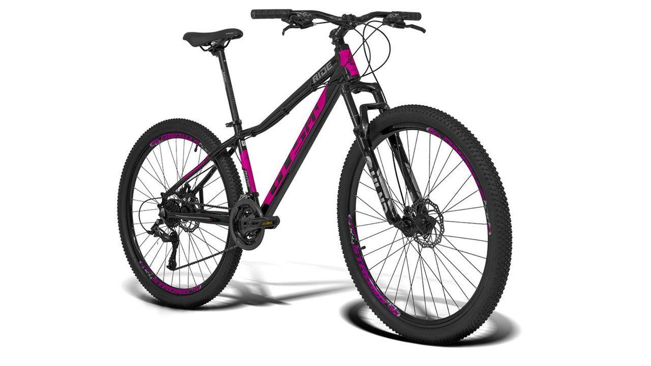 Bicicleta GTS aro 29 preta e rosa